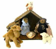 Boyd's Bears Nativity 8 pc set lush Animals Crèche 2005 567951 Retired