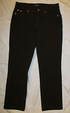 CAMBIO NORAH SLIM dark brown stretchy twill jeans 10 NWOT