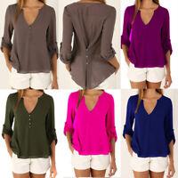 Summer Chiffon Long Sleeve Tops Loose Ladies Fashion Women's Casual Shirt Blouse