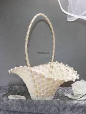 2 Streukörbchen Blumenkinder ivory creme Blumenkörbchen Biedermeierkörbchen
