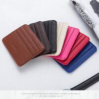 Mens Leather Card Slim Bank Credit Card ID Card Holder Case Bag Wallet Hol ME