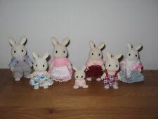 Sylvanian Familes Celebration rabbit family, Mum, Dad, Grandparents & children