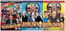 MOCK THE WEEK  TOO HOT FOR TV COMPLETE COLLECTION 1-3 DVD UK Rele New Sealed R2