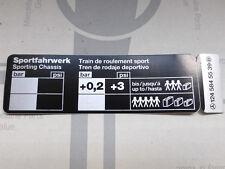 "Mercedes Sticker ""Tire Pressure for Sportline"" models W124 NEW!"