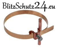 Blitzschutz Niro Kunststoff Grau Blitzableiter Leitungshalter Plattensnap