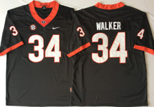 NEW Mens Georgia Bulldogs Black #34 WALKER Football Jersey