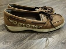 Sperry Top-Sider Laguna Brown And Cheetah Print Size 6