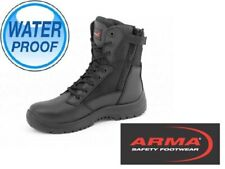 MENS LIGHTWEIGHT STEEL TOE CAP MILITARY COMBAT SAFETY SHOES POLICE WORK BOOTS SZ