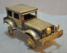 Original Old Vintage Hand Crafted Fine Brass Car Figure Toy