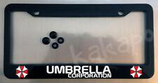 Umbrella Corporation Resident Evil Glossy Black License Plate Frame + Screw Caps
