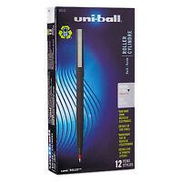 uni-ball Roller Ball Stick Dye-Based Pen Red Ink Micro Dozen 60152