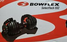 Bowflex SelectTech 552 -ONE Adjustable Dumbbell. 5-52 lbs Pounds NEW in Hand !!