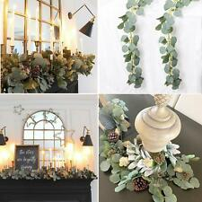 Artificial Silver Dollar Eucalyptus Garland Faux Silk Leaf Vine Greenery Party H