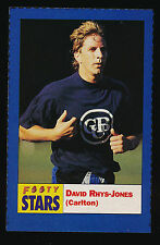 1991 Footy Stars David Rhys Jones  Carlton Sticker Blues