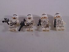 LOT OF 4 LEGO STAR WARS--STORMTROOPER MINI FIGURES (LOOK)
