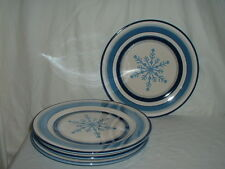 "Lot (4) 11"" Dinner Plates St. Nicholas Square Winter Frost 3 Lots Available"