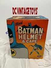 Vintage 1966 Ideal Batman Helmet (Cowl) & Cape Plastic Costume Mask RARE!!