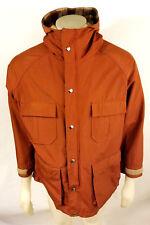 Vintage L.L. Bean Redwood Autumn Orange Cotton/Nylon Mens Large Hoodie Jacket