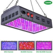Maxsisun 1200W Full Spectrum Led Grow Light for Indoor Hydroponic Plants Flower