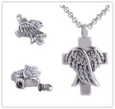 Dog Ashes Keepsake Wings Pet Cremation Urn Necklaces Jewelry Pendant Memorial