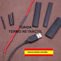 FUNDA TERMO RETRACTIL TERMO ENCOGIBLE ELECTRICIDAD EMPALMES AISLANTE CABLES