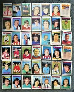 Lot of 40+ A&BC Footballer Cards 1972/73 Orange/Red Backs - Extremely Poor Cond