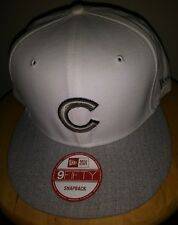 Mens Chicago Cubs Cap New Era MLB 9FIFTY White Hat Heather Gray Snapback Adults