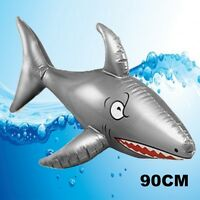 LARGE 90CM INFLATABLE BLOW UP SHARK JAWS NOVELTY FLOATING PARTY TOY X99001