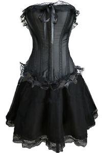 Corsage Kleid Mini Rock Petticoat Gothic schwarz Wäschebeutel