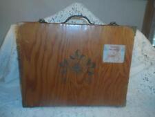 Vntg~Antique Carved Wood Adolf Coors Hinged Lid Guest Beer Box Safe Carry Case