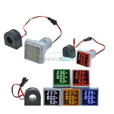 Ac 60 500v 0 100a 3 In 1 Voltmeter Ammeter Led Light Digital Volt Amp Meter 22mm