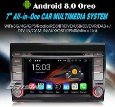 "AUTORADIO 7"" Android 8.0 octa core 4gb Fiat Bravo Navigatore Gps Wifi Usb Sd Dvd"