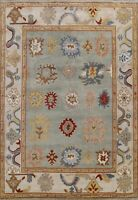 Geometric Oushak Oriental Hand-knotted Area Rug Wool Traditional 8x10 Carpet