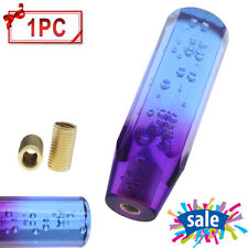 15cm Car Shift Knob Stick Crystal Bubble Purple Blue Throw Gear Shifter US Stock