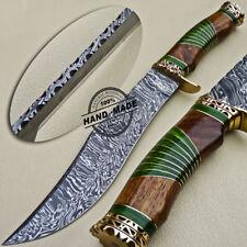 Cuchillo Machete Lujo Damasco Hecho a Mano Personalizada Damasco Cuchillo De Acero 1615