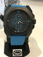 Marc Echo Men's Square Blue And Black Watch Chronograph E13598G2 NWOT