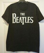 New The Beatles Classic Distressed Logo Adult Medium T-shirt 60s Rock Tee
