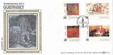 (02709) GB Guernsey Benham FDC Contemporary Art 7 May 1993