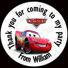 Personalised CARS inspired Labels ~ Stickers ~ Party sweet cone bags