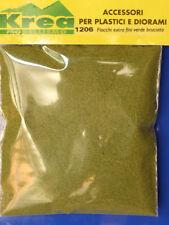 Fiocchi extra fini verde bruciato per plastico o diorama gr. 25 - KREA 1206