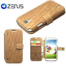 Custodia pelle ZENUS VINTAGE p Samsung Galaxy S4 i9505 i9500 MARRONE scamosciato