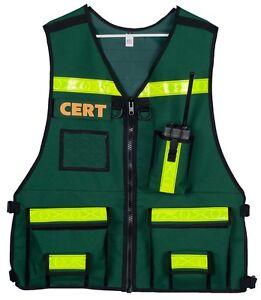 CERT COMMANDER Vest, Reflective, Safety, Custom, Vest