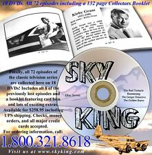 Official Sky King DVD Box Set All 72 TV Episodes + Book + Aviation History Bonus