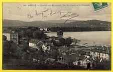 cpa RARE France ANNECY (Haute Savoie) QUARTIER des MARQUISATS L'ILE des CYGNES