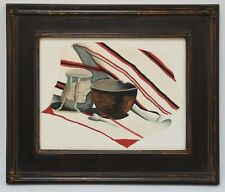 EXCEPTIONAL VINTAGE NATIVE AMERICAN STILL LIFE PAINTING ~ FRAMED ~ TRU VUE GLASS