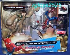 "Spiderman 3 Movie Sand Blast Battle EXCLUSIVE 5"" Spider-man vs Sandman NEW 2007"