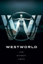 WESTWORLD LOGO LIVE WITHOUT LIMITS MAXI POSTER 91.5 X 61CM 100% OFFICIAL MERCH