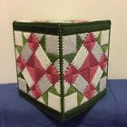 Handmade Plastic Canvas Tissue Box Cover QUILT Topper Boutique NEW Gift Idea