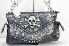 Brand New Black Skull purse, Made for gun in back