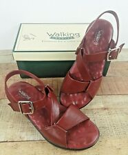 Walking Cradles Women's Maroon Strappy Sandals Shoes Size 8 1/2 Wide